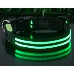 Collar luminoso verde talla M
